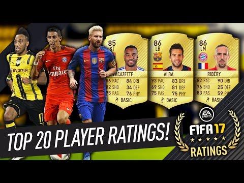 FIFA 17 TOP 20 LA LIGA, LIGUE 1 & BUNDESLIGA PLAYERS! OFFICIAL RATINGS!