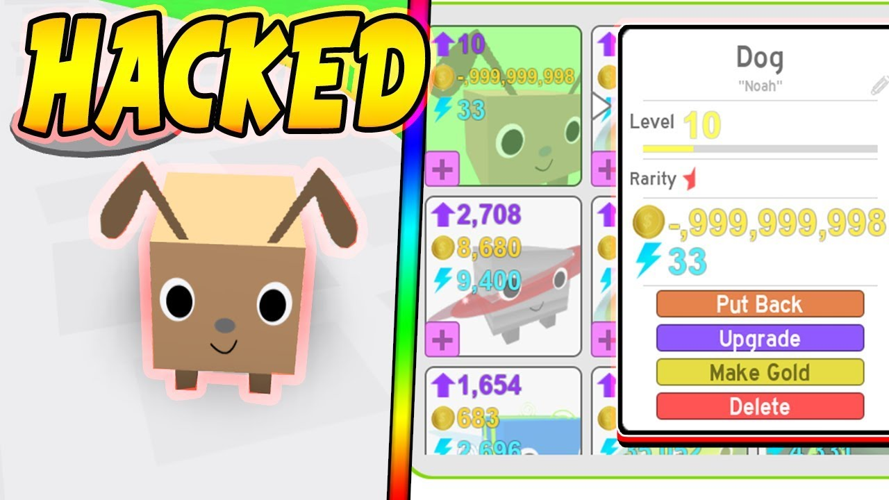 New Hacked Pet In Pet Simulator Roblox Youtube