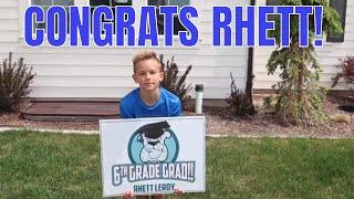 Rhett graduates | No More School | The LeRoys