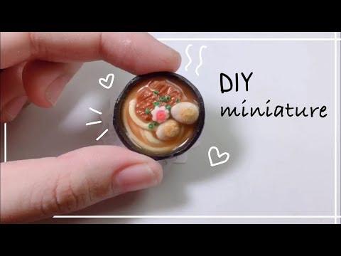 DIY miniature Cách làm tô mì udon từ đất sét Nhật siêu dễ   Bunbun Sweet