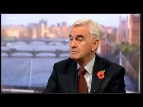 John McDonnell on Andrew Marr for first time as Shadow Chancellor