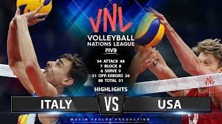 Italy vs USA | Highlights Men's VNL 2019