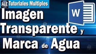 Como Hacer Imagen Transparente En Word - Poner Marca De Agua En Word