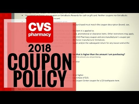 What is the CVS COUPON POLICY 2018? CleanCutCouponing
