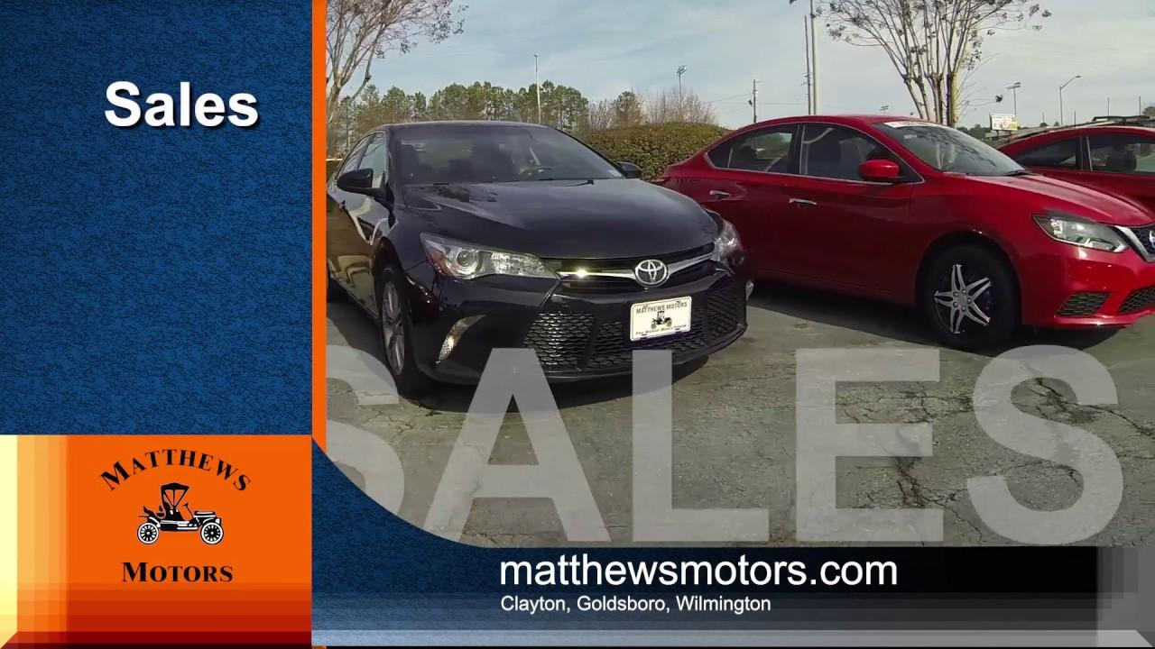 Car Dealerships In Wilmington Nc >> Matthews Motors NC - Your # 1 Customer Satisfaction Car ...