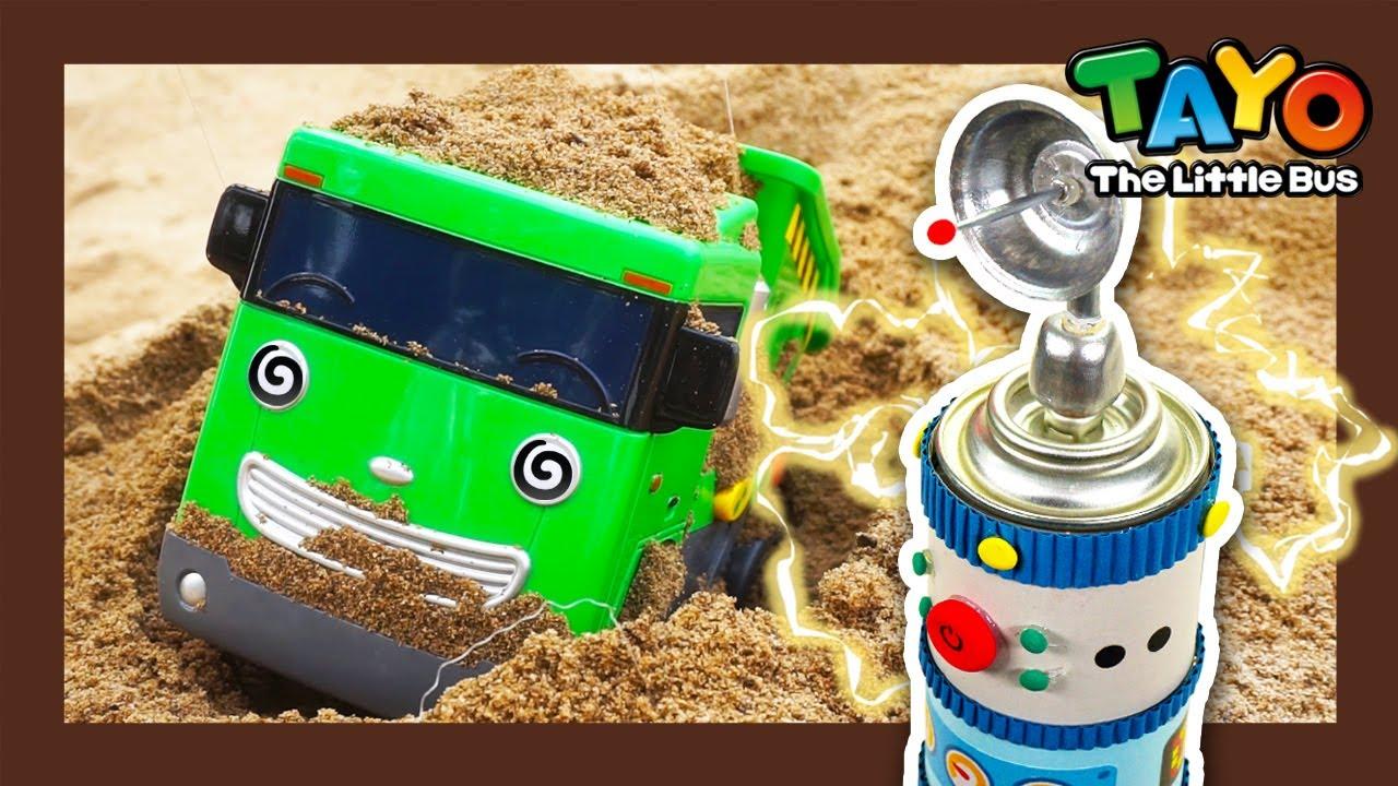Tayo Kendaraan berat Mainan menunjukkan l #23 Truk sampah dalam masalah! l Tayo Bus Kecil
