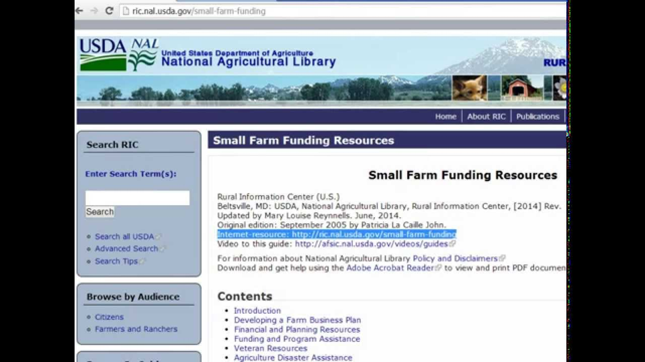 Small Farm Funding Resources Guide | Alternative Farming