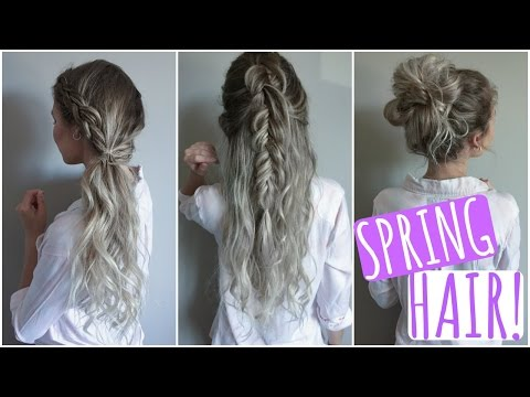 Quick & Easy Hair Styles! // Spring Tutorial