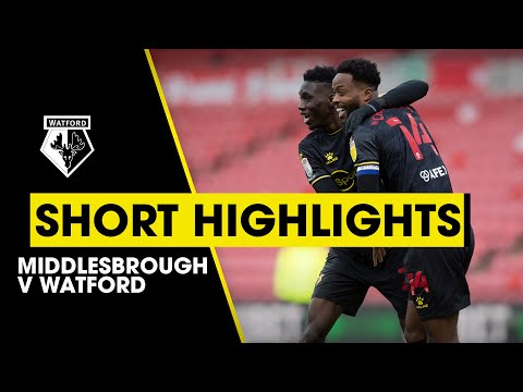 Middlesbrough Watford Goals And Highlights
