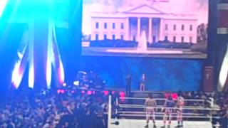 WWE London Union Jacks and Lana and Rusev Entrance