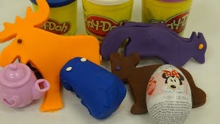 Play-Doh Surprise Toys Egg  Princes Anna  Dora the Explorer Winnie The Pooh