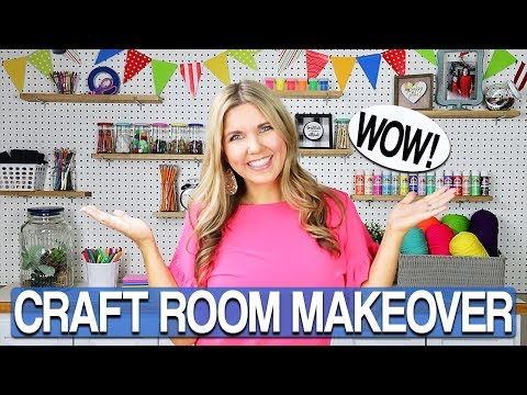 Craft Room Makeover on a Budget ⭐ DIY  Craft Room Organization