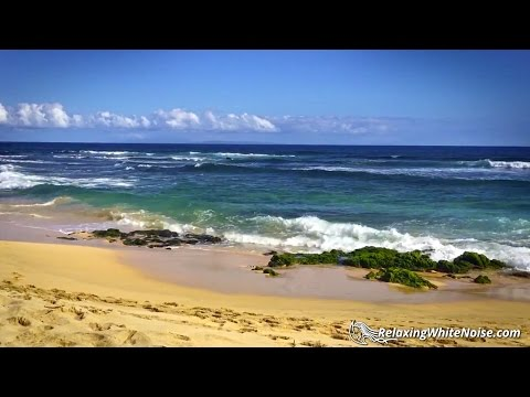 Ocean Sleep Sounds White Noise | Waves Crashing on Beach in Hawaii for Sleeping, Relaxation