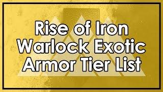 Destiny Rise of Iron: Warlock Exotic Armor Tier List (Transversive Steps & Ophidian Aspect Reviews)