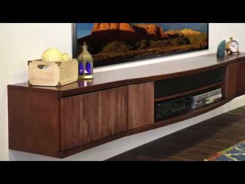 floating tv cabinet woodwaves floating tv stand entertainment center console 15500