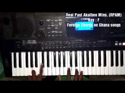 Foreign piano chords and techniques on Ghana/African Songs