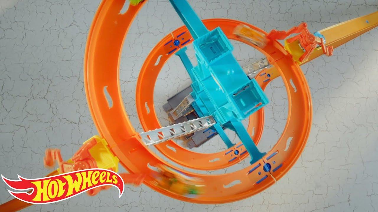 hot wheels track builder spiral stack up instructions