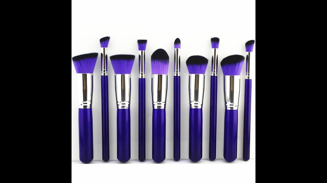 Purple makeup brushes from ebay that make me feel gothic for Purple makes you feel
