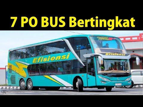 7 PO BUS Double Decker di Indonesia