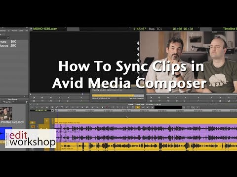 How To Sync Clips In Avid Media Composer