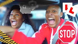NEARLY GOT US KILLED. FIRST TIME DRIVING + CARPOOL KARAOKE