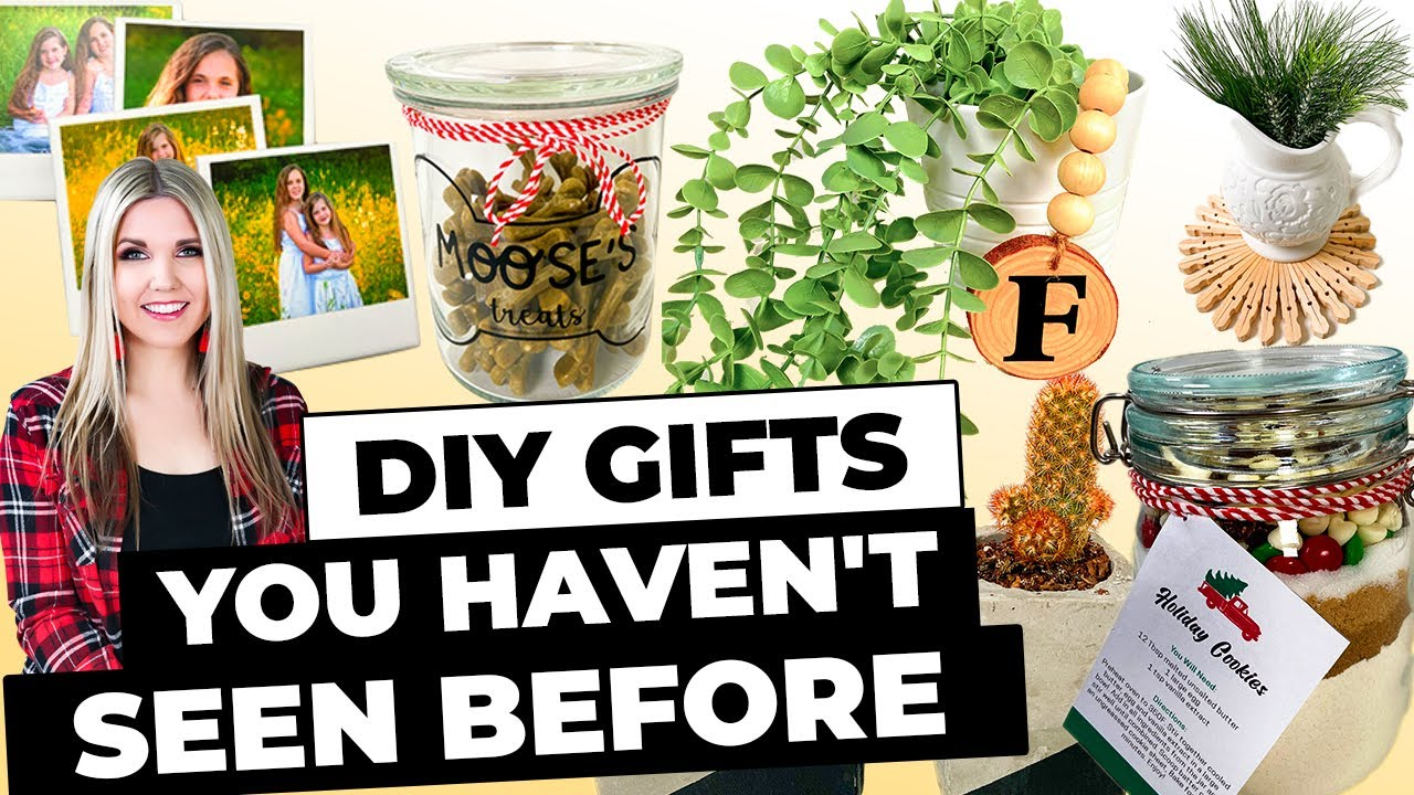 DIY GIFTS YOU HAVEN'T SEEN BEFORE...that people will actually want for Christmas!!