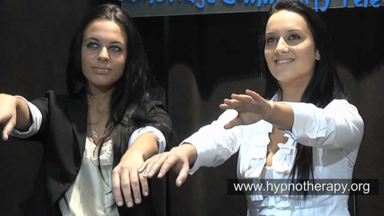 French sisters hypnotized instantly on live TV (rapid induction  demonstration with pretalk)