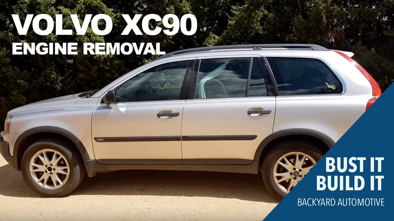 How to remove a Volvo XC90 motor and transmission at home