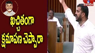 Anil Kumar Yadav Fires on Chandrababu in AP Assembly | hmtv