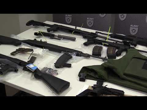 Arsenal of weapons seized from Edmonton brothers