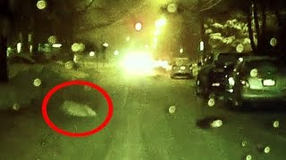 Ghost Floats Across Amityville Horror Street On Dash Camera