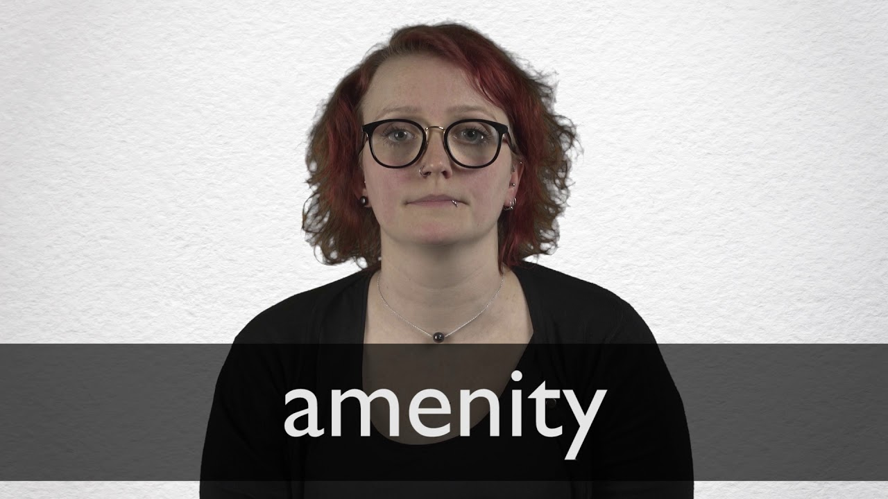 How to pronounce AMENITY in British English