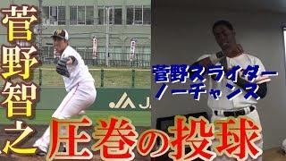 スライダーはノーチャンス⁉菅野投手、圧巻の投球!