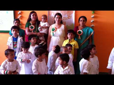 Kids performing in Lilliput Joyland Pre school, Sonepat on Independence Day 15th August , 2014