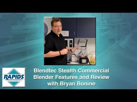 Blendtec Stealth Commercial Blender Technology Review With Bryan Bonine At RapidsWholesale.com