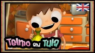 Pizza recipe for kids, Telmo and Tula cartoons, cooking with children