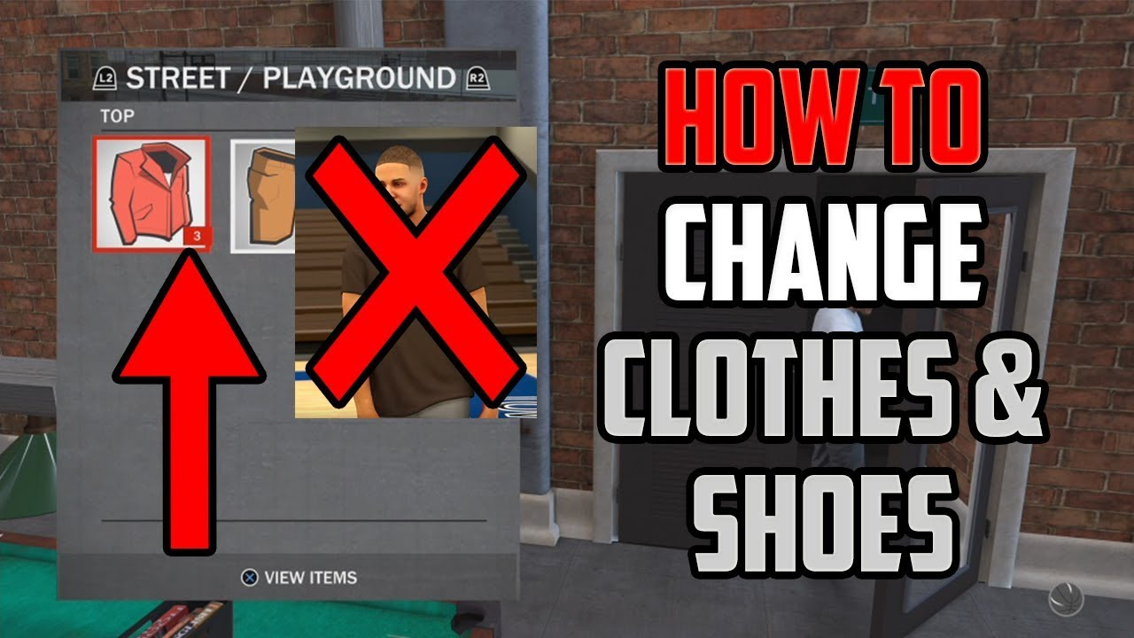 NBA 2K18 - HOW TO CHANGE YOUR CLOTHES / SHOES AND ACCESSORIES