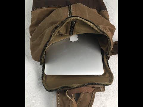 vintage-canvas/leather-backpack---gootium