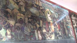 Mexico City National Palace Diego Rivera part 1