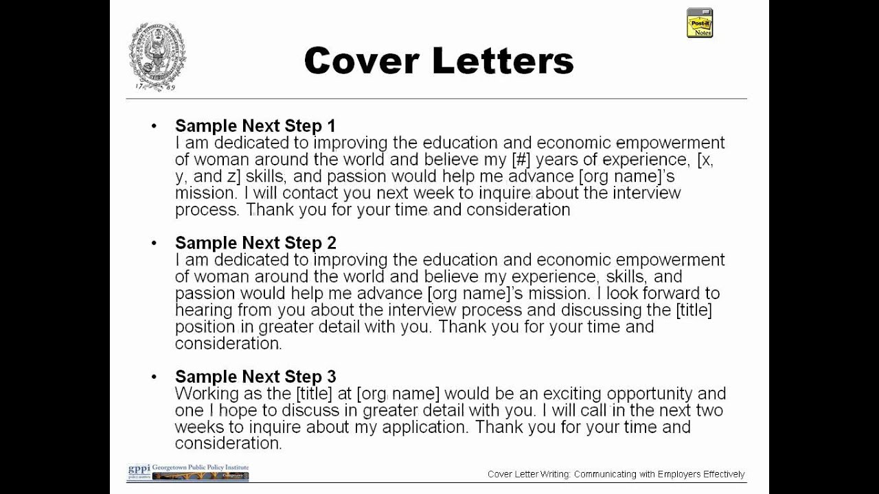 Cover Letter Writing: Communicating With Employers Effectively