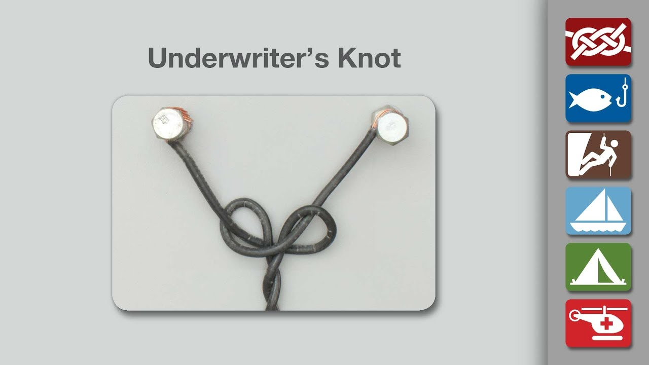 underwriters knot how to tie an underwriters knot youtube rh youtube com