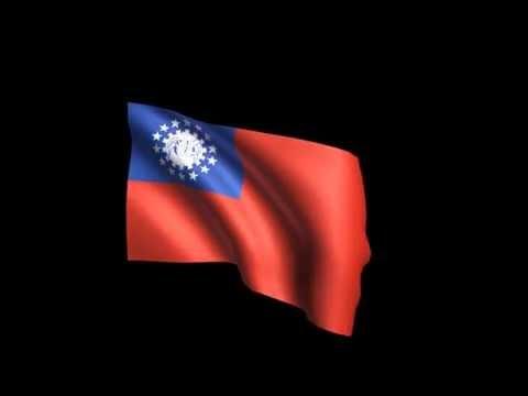 Myanmar FLAG animation 4K