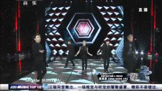 720p HD 140510 CCTV15 EXO M 'Overdose' LIVE 全球中文音乐榜上