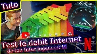 Comment tester le débit internet de ton futur logement ? Fibre, ADSL ? #freeboxv7 #livebox4 #fibre