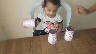 #بيبي لعبة الكاسات  Baby Game Cups with a gift