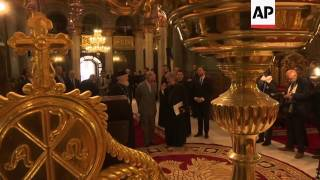 Charles meets Romanian Orthodox Church Patriarch Daniel and Princess Margareta