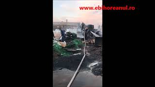 Incendiu de proportii in Oradea, la o firma din Parcul Industrial