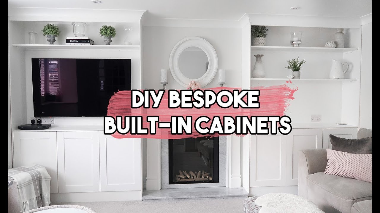 Diy Bespoke Built In Shelves And Cabinets Living Room Makeover Part 1 Withme Youtube
