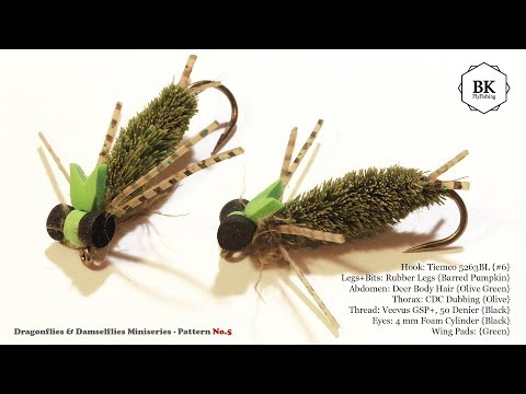 "Dragonflies&Damselflies No.5 Tying ""Floating Dragonfly Nymph"" (Dry Flies) by BK"