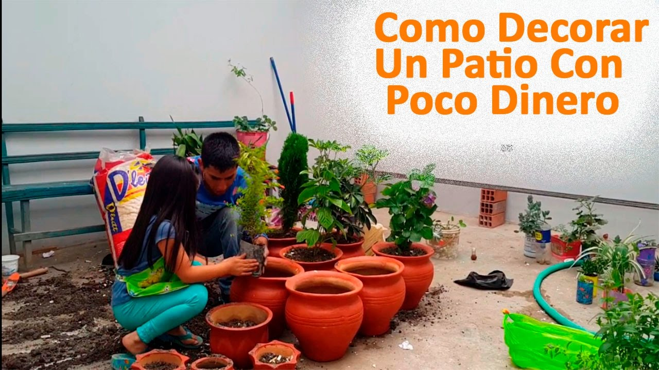 Como decorar un patio con poco dinero parte ii youtube for Como decorar un jardin grande